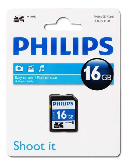 Cartão De Memória Philips Sdhc 16bg Classe 10