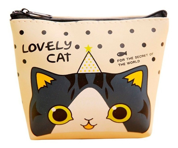 Monedero Niña Con Cierre Billetera Lovely Cat Sictrends