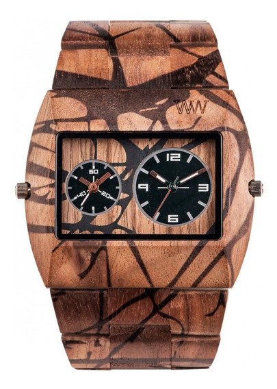 Relógio De Madeira Wewood Jupiter Nature Tree Nut - Wwj10
