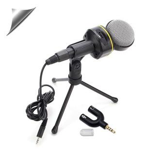 Microfono Pc Celular Juegos Youtube Musica+ Adaptador