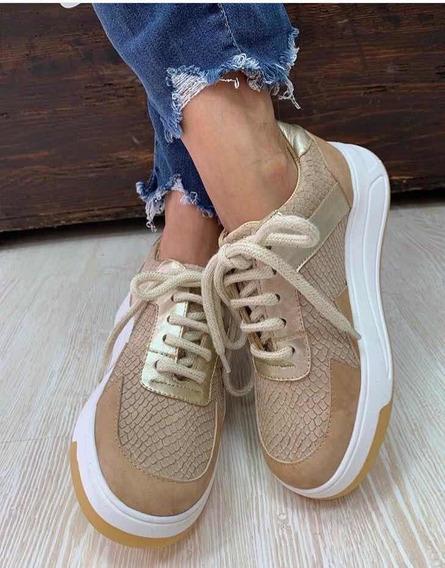 Zapatillas Mujer Cuero Y Gamuza Talle 37 Miuccha