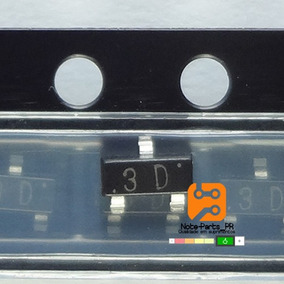 10 Pçs Transistor 3d - Mmbta44 Sot23 Smd - Npn 0.2a 400v