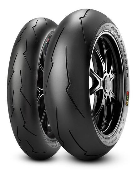 Jogo Pneu Pirelli Supercorsa Sp3 120 70 17 + 190 55 17