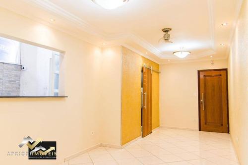 Apartamento Com 3 Dormitórios, 84 M² - Venda Por R$ 530.000 Ou Aluguel Por R$ 2.200/mês - Santa Teresinha - Santo André/sp - Ap2336