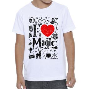 Camiseta Infantil Feminina Harry Potter Magias Love - 607