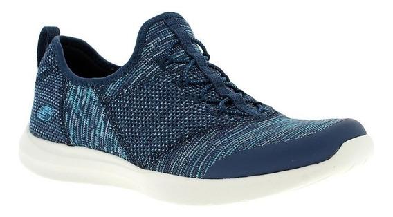 Skechers Zapatillas Mujer Mix & Match Studio Comfort Marino