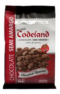 Chocolate Semi Amargo Mini Codeland X 200 Grs