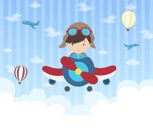 Imagem 1 de 1 de Painel De Festa Tecido Aviador 2 X 2m - Mod 2