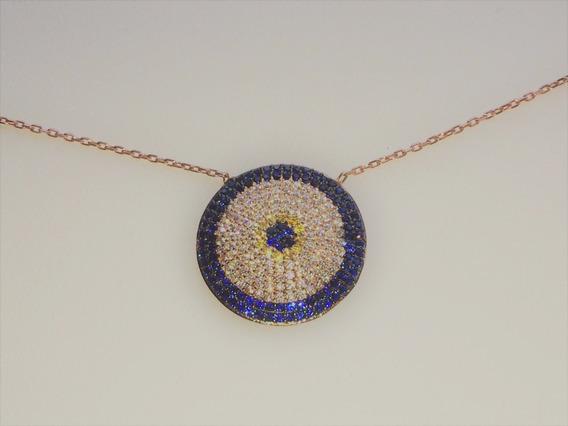 Aslan - Colar Da Turquia Prata & Ouro Zircônias (05/06.0015)