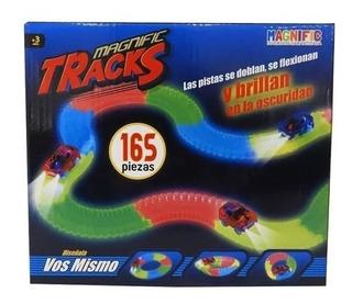 Pista Magnific Tracks 165pzs-pista Luminosa. Milebu