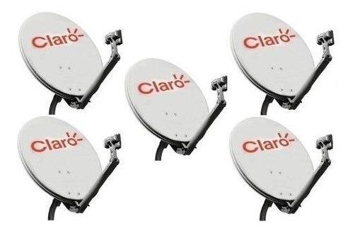 2 Antena Ku 60cm Logo Claro 2 Cabo 17mts Rg59 2 Simples Lnb