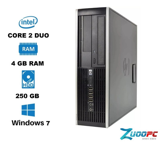 Pc Hp Pro 6000 Sff Core 2 Duo 4gb 250gb Win7