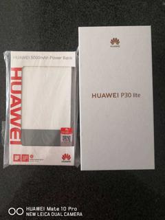 Celular P30 Lite + Bateria Portatil