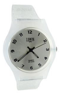 Reloj Lemon L1508 L1509 Caucho Brillo Glitter Elegi Color
