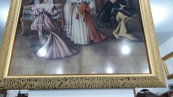 Quadro Classico Est. Francês- Pintura Em Cerâmica.