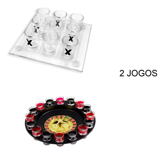 2 Jogos- Jogo D Velha +roleta Bebida Tequila Drink Destilado