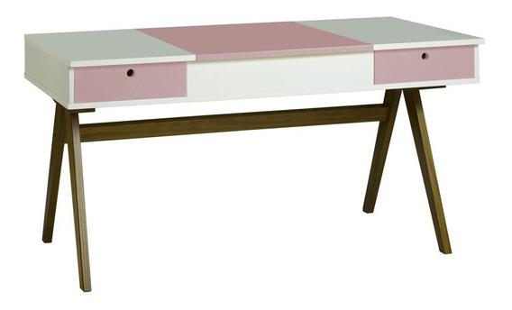 Mesa Escrivaninha Delacroix 430 Nogal/branco/lilás