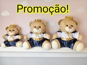 Trio Urso De Pelucia Principe Para Nicho Lindos Várias Cores
