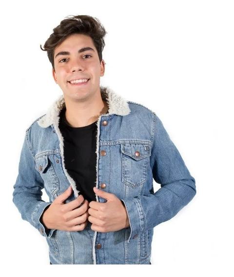 Campera Hombre Bensimon Jean Vintage Con Corderito