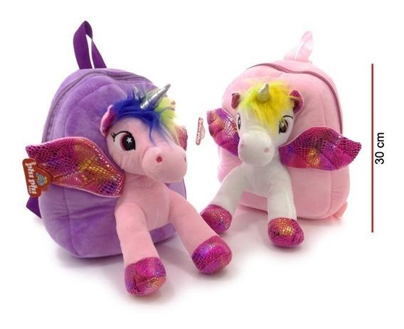 Mochila Espalda Peluche Unicornio 30 Cm Phi Phi Toys