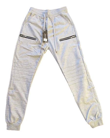 Pantalon Jogger Sudadera Hombre Gris/negro Importado