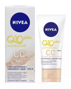 636-nivea Q10 Plus Antissinais 3 Em 1 Cc Cream 51g Vl 12/19