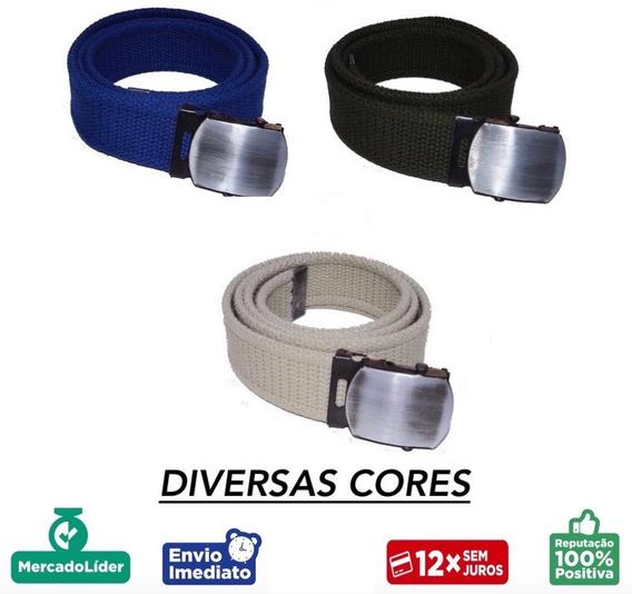 Cinto Infantil Larg. 3,5cm Lona C/ 2 Bordas - Diversas Cores