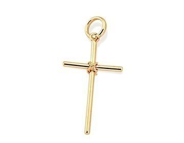 Pingente Cruz Crucifixo Lisa 2,4 Fol. Ouro Rommanel 540180