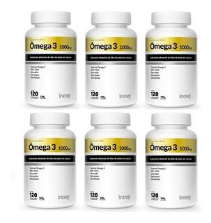 06 Ômega 3 1000 Mg 120 Cápsulas Inove Nutrition