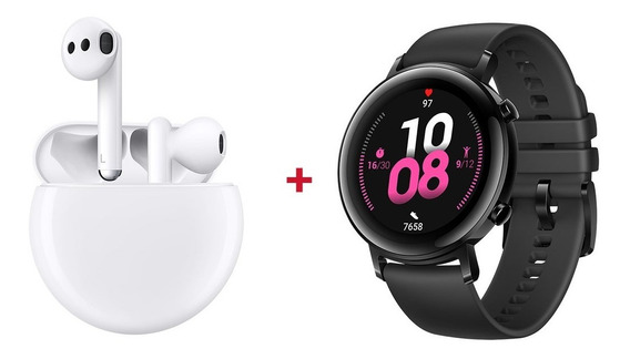 Combo Huawei Freebuds 3 + Smart Watch Gt 2 Diana-b19s 42mm