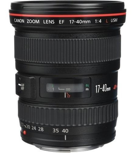 Lente Canon Ef 17-40mm F/4l Usm Garantia Novo