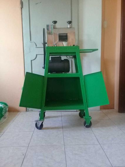 Maquina Exprimidora De Jugo De Caña Con Motor De 2hp