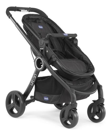 Carrinho De Bebê Chicco Urban Plus Black Com Moisés Até 15kg