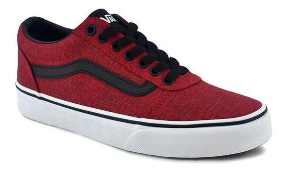 Zapatilla Vans Hombre Ward Rojo/negro