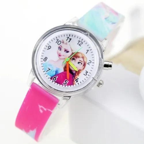 Relógio Infantil Frozen Luz Piscante