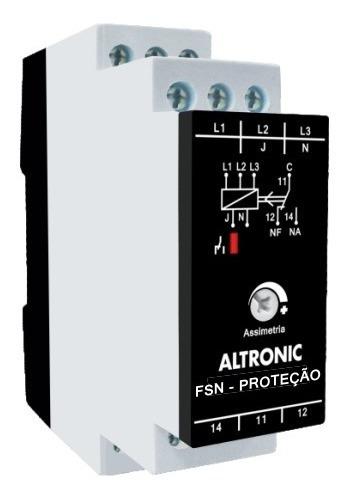 Relé Falta De Fase C/ Neutro 220vca Fsn-22 Altronic