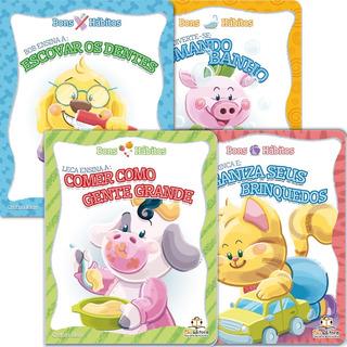 Livro Infantil Coleção Bons Hábitos Blu Editora 4 Títulos