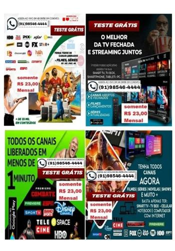 Imagem 1 de 5 de Libero Mais De 10 Mil Conteúdos Em Sua Tv/celular/notebook.
