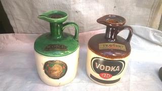 Botellas Antigua Ceramica Espejo