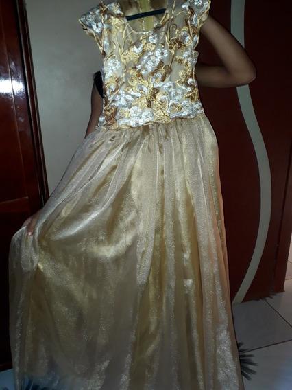 Vestido Dourado Pra Aniversario De 15 Anos