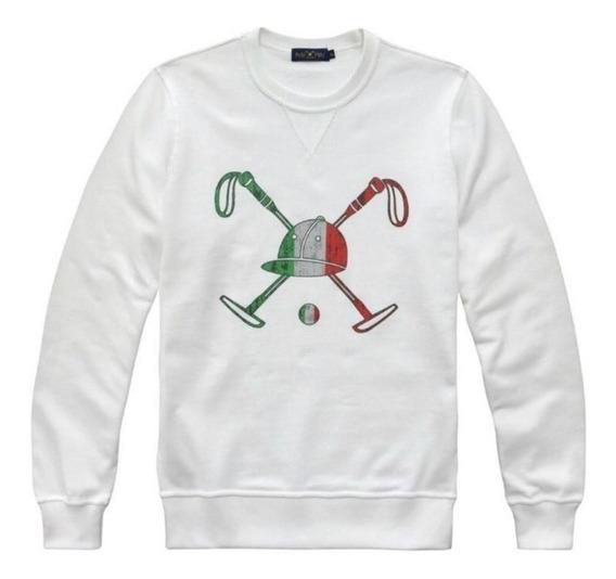 Blusão Polo Play Italy Moletom De Frio Branco