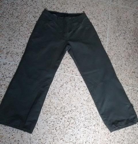 Pantalón Para Dama Verde Oscuro Forrado Talla M (eur 42)