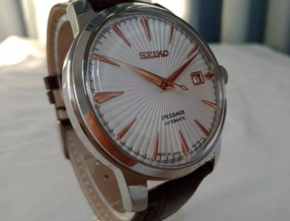 Seiko Reloj Presage Calibre 24 Joyas Acero Plateado Piel