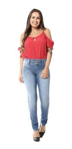 Calça Jeans Feminina Sawary Skinny Com Lycra - 255182