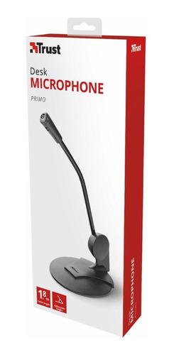 Microfono Para Pc Trust Primo De Base 3.5mm Cable 1.8m