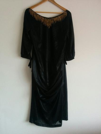 Vestido Otoño Fiesta 2018 Negro Collar Fiesta Envios Sale