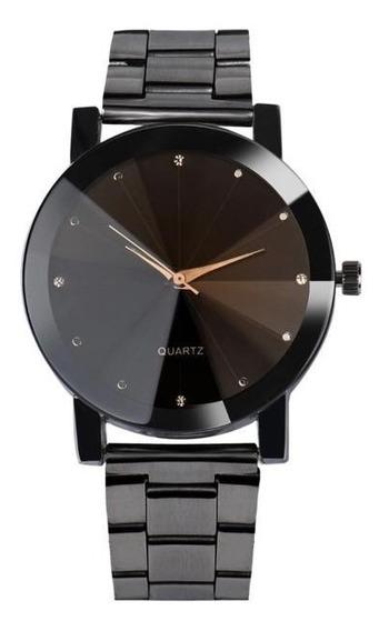 Relógio Unissex Preto Lançamento 2018 - Promoção Sem Juros