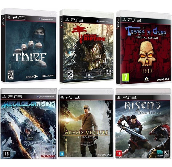 Mg + Thief + Dead Island Riptide + Risen3 + Adam + Tog - Ps3