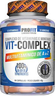 Multivitamínico Vit Complex A - Z 90 Capsulas - Profit