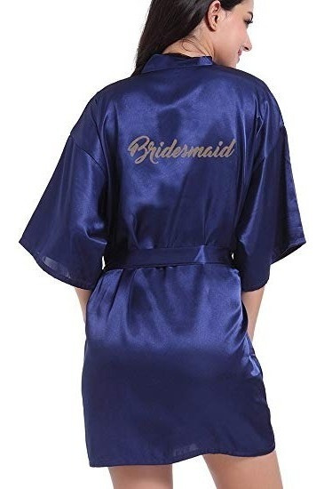 Levantadora Kimono En Satin Para Novia